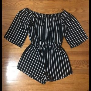 Striped Romper Jumpsuit